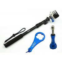 China Gopro Handheld Camera Holder Stick All-Aluminum Alloy Telescopic Pole , Extendable Arm For Selfies wholesale