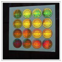 Gold background security hologram stickers made in guangzhou , custom high quality holographic stickers