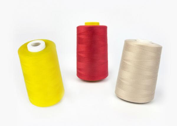 Quality A linha de costura tingida do poliéster do teste padrão para a costura do vestuário, TFO/anel girou o tipo for sale