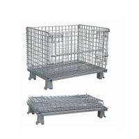 China Industrial Rigid Wire Mesh Container Big Size  Large Load Capacity on sale
