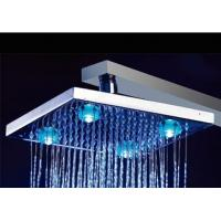 China 10Brass Square LED Shower Head, Big Light, Temperature Detectable (YS-LED5102) wholesale