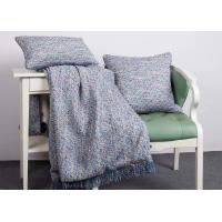 Elegant Decorative Pillow Covers , 100% Polyester Blue Throw Pillows For Couch