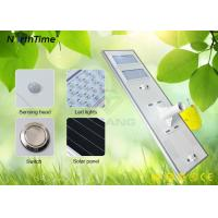 China High Efficiency 12V120W Urban Solar Powered LED Street Lights with Sunpower Panel 110LM/W Bridgelux wholesale