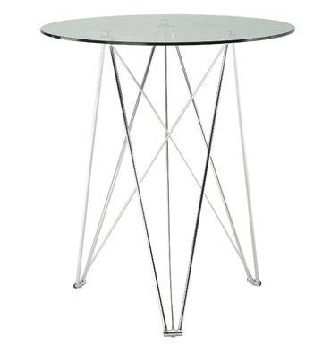 Quality Glass High Top Round Party Bar Table Unique Portable For Home Decoration for sale