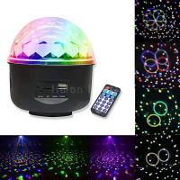 China 6pcs Star Gobo Effect USB MP3 Remote Controller LED Crystal Magic Ball Light on sale