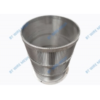 China Micro 0.2mm-1.0mm Slot Wedge Wire Filter 304 Stainless Steel wholesale