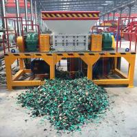 China Henan Ling Heng LHSSM-1500 Twin-Shaft Shredder Machine widely used in area of waste plastic, waste rubber, wood, crop wholesale