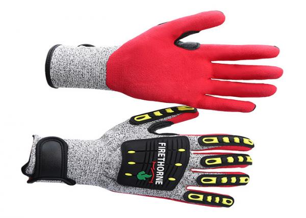 Quality TPR Anti Impact Gloves Unisex Gender , Workplace Heavy Duty Mechanic Gloves for sale