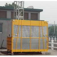 2000kg Single Cage Yellow Construction Material Hoists SC200 / 200 without VFD