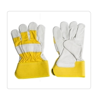 China Metal Smelting Cotton Cow Leather Safety Gloves on sale