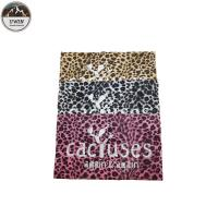 China Popular Leopard Custom Embossed Leather Patches Sew On Style 22*22CM Size For Hoodies wholesale
