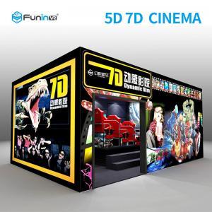China 6 DOF Gun Shooting Stereo 7D Simulator Cinema With 3D VR Hanger 2.25KW wholesale