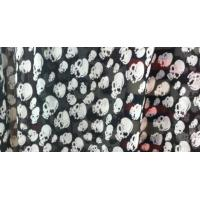 China 100D Skull Chiffon Printed Fabrics wholesale
