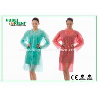 China PP & MP & TVK Disposable Laboratory Coats With Velcro And Shirt Collar wholesale