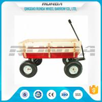 China Various Colors Garden Utility Cart Wagon Steel Mesh Bed 150kg  Load Capacity wholesale