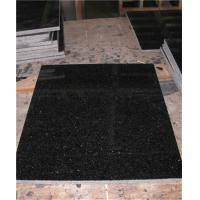 China Polished Black Granite Floor Tiles Customized Size CE Certification on sale