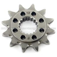 China 20 MN Steel Front Dirt Bike Chain Sprocket With Closet Tolerance And Best Teeth Profile wholesale