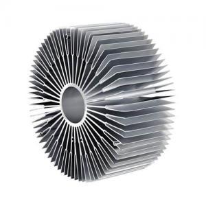 China 6000 Series Sun Flower Aluminum Radiator Aluminum Extruded Heat Sink Profiles wholesale