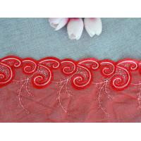 China Apparel Accessories Mesh Based  Embroider Lace Trim for Nightgown on sale