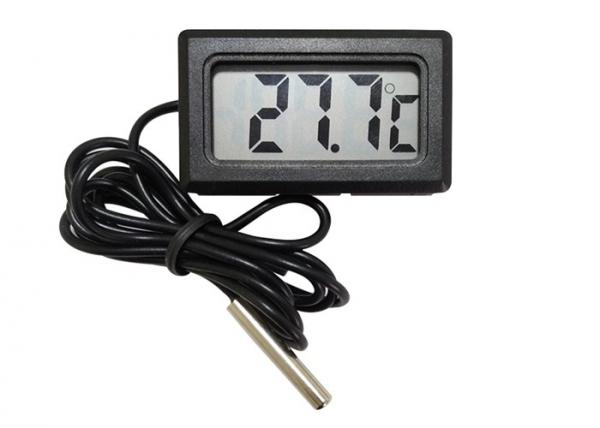 Quality Mini Plastic Digital Freezer Thermometer , LCD Display Digital Cooler Thermometer for sale
