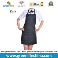 China Classic black promotional plan aprons in stock ready for customized logo advertisment need wholesale