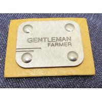 China Manufacturer custom metal jeans pu label and printing leather patch label clothing label tag for jeans wholesale