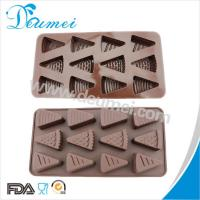 China Eco-Friendly 12 Cavities Cheese Shaped Triangle Shape Silicone Chocolate Mold Candy Mold wholesale