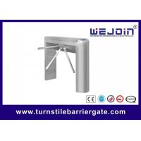 China Automatic Pedestrian Access Control Turnstile Gate Waist High 304 Stainless Steel wholesale