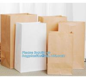 China Custom bakery paper bag / Food grade bread packaging bags, white or brown craft paper bag,greaseproof kebab sandwich bre wholesale