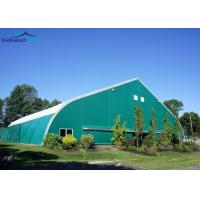 China Outdoor Curved Roof TFS Aircraft Hangar Tent For Military , Aluminum Structure Tent on sale