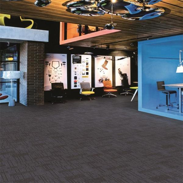 Quality Foldable Office Carpet Flooring , Pp Carpet Tile Multi Level Loop Stripe Style for sale
