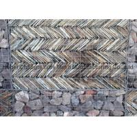China Retaining Stone Gabion Wall / Welded Gabion Baskets For Vertical Noise Barrier wholesale