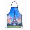 China La Tour Eiffel Cotton Kitchen Apron wholesale