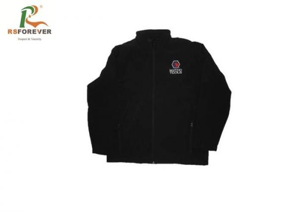 Quality Plain Black Hooded Sweatshirt Jacket Embroidered Outdoor Sports Windbreaker for sale