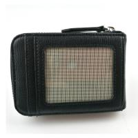 Buy cheap RFID Blocking PU Leather Credit Card Holder / Mens Black Leather Wallet from wholesalers