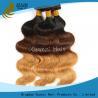 China Vague brésilienne colorée propre de corps de deux de ton de Vierge prolongements de cheveux aucun produit chimique wholesale