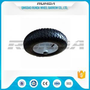 China Diamand Pattern Swivel Caster Pneumatic Wheel 4.00-8 Large Friction Prevent Skid wholesale