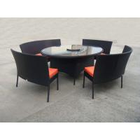 China Rattan Garden Dining Sets With Bench , Patio Table And Chairs Set on sale