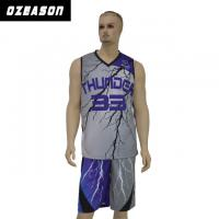 China OEM Breathable Mesh Never Fading Sublimation Basketball Jersey wholesale