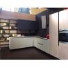 China Quartz Stone Countertop Complete Kitchen Cabinet Set White Baking Paint wholesale