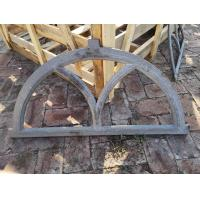 China Antique Architectural Cast Iron Windows Salvage Half Moon Shape H19*W32CM wholesale