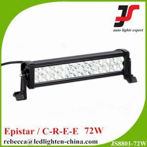 China 72W led driving light bar 12V Epsitar led light bar for truck boat tank wholesale