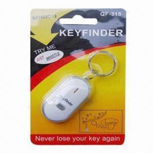 China LED Light Whistle Key Finder, Made of Plastic, Measures 5.5 x 2.7 x 1.3cm wholesale