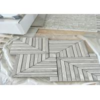 China WhitMarble Mosaic Tile , marble mosic floor tile 10mm Thickness 302x302mm Sheet Size wholesale