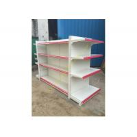 China Double - sided Supermarket Display Shelving Rack , Retail Shelving System wholesale
