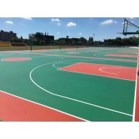 China Badminton Court Rubber Sports Flooring Full / Sandwich System Water Stone Base wholesale
