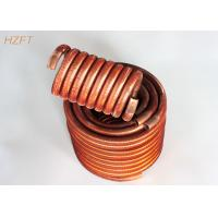 China Oil Coolers Compact Design Finned Tube Coils / Water Heating Coils wholesale