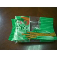 China Green Side Gusseted Food Pouch Packaging for Biscuit PET / CPP on sale