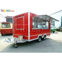 China Street Square Mobile Food Trailer  Stainle Steel Food Vending Carts Various Colors wholesale