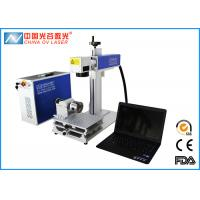 China Fiber 30W IPG Laser Marking Machine with Rotary Device 80mm and 2D Working Table wholesale